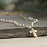 Favorite Pearls and Cross Timeless Necklace