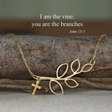 I am the Vine... Gold Finish Necklace