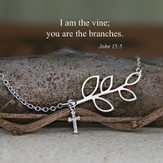 I am the Vine...Silver Finish Necklace