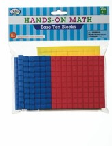 Hands-On Math Base Ten Blocks, 111 Pieces