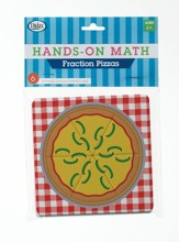 Hands-On Math Fraction Pizzas, 6 Pieces