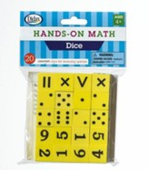 Hands-On Math Dice, 20 Pieces