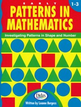 Patterns In Mathematics, Grades 1-3