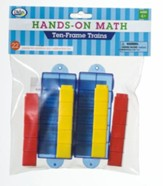 Hands-On Math Ten Frame Trains, 22 Pieces