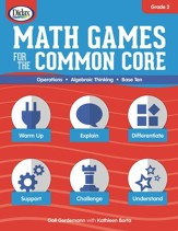 Math Games for the Common Core w/ CD-ROM, Grade 2