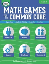 Math Games for the Common Core w/ CD-ROM, Grade 4