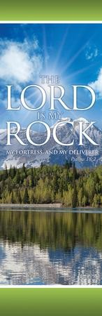 The Lord Is My Rock Vinyl Banner