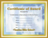 Faithbook VBS: Certificate of Award