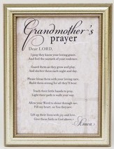 Grandmother's Prayer Framed Art, Silver