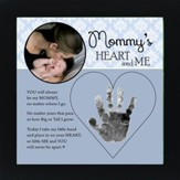 Mom, Hand In Heart Photo Frame