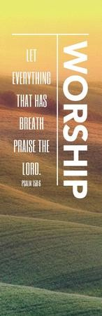 Phrases Worship Vertical Vinyl Banner (2 x 6)