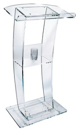 Curved Clear Acrylic Lectern (47 inch)  - Slightly Imperfect