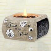Trust in the Lord Tea Light Holder