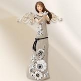 Angel Holding Dove Figurine