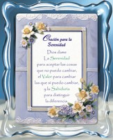 Oracion Para La Serenidad, Serenity Prayer Music Frame, Spanish