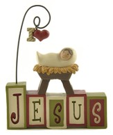 I Love Jesus Blocks Figurine