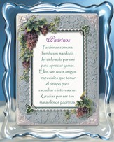 Padrinos, Godparents Music Frame, Spanish