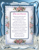 I Said a Prayer Music Frame, Spanish