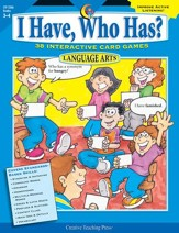 I Have, Who Has? Language Arts Grades 3-4