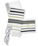 New Covenant Prayer Shawl, English/Hebrew with Bag 72 x 22