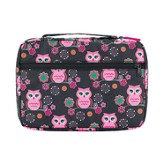 Owl Bible Cover, Black and Pink, Large
