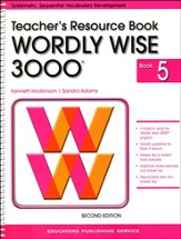 Wordly Wise 3000 Teacher Resource Book 5, 2nd Edition