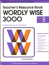 Wordly Wise 3000 Teacher Resource Book 8, 2nd Edition