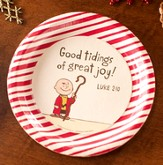 Good Tidings of Great Joy Peanuts Paper Dessert Plates, Pack of 8 - Slightly Imperfect