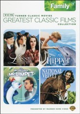 TCM Greatest Classic Films Collections: Lassie, Flipper The Incredible Mr. Limpet, National Velvet, 2-DVD Set