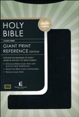 KJV Giant Print Reference Bible, Leatherflex, Black  - Slightly Imperfect