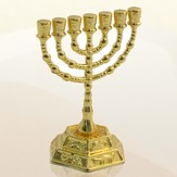 Gold Plated Menorah Decoration