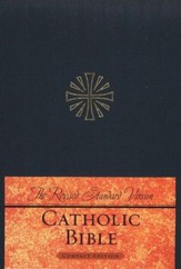 The Revised Standard Version Catholic Bible Compact Edition-hardcover, navy blue
