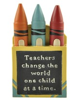 Teachers Change the World, Crayon Box Figure