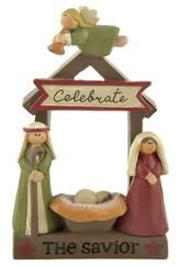 Celebrate the Savior Figurine, Manger, Holy Family