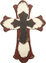 Layered Wall Cross, Red