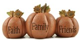 Faith, Family, Friends Pumpkins Figure