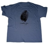 Fingerprint Shirt, Denim Blue, X-Large