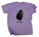Fingerprint Shirt, Purple, Large
