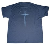 Blue Thorns Cross Shirt, Denim Blue, Large