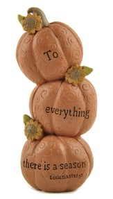 To Everything There is A Season Stacked Pumpkins Figure