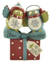 Your Friendship Is A Gift, Owls Figurine
