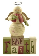 Have Faith, Snowman Figurine