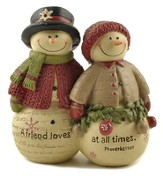 A Friend Loves At All Times, Snowman Figurine