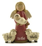 Joy To the World Figurine, Angel, Baby Jesus, Sheep