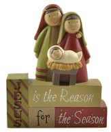 Jesus Is the Reason For the Season, Holy Family Blocks Figure
