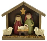 Nativity with Sheep and Star Figure