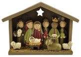 Nativity with Animals and Wisemen Figure