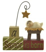 A Savior Is Born Blocks Figurine, Baby Jesus - Slightly Imperfect