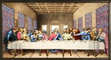 The Last Supper--Hand Painted Stained Glass