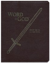 KJV Sword, Word Of God, Bonded Leather, Burgundy, Large Print
